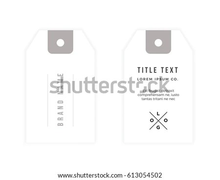 Clothing Tag Template Modern Minimal Simple Stock Vector (Royalty