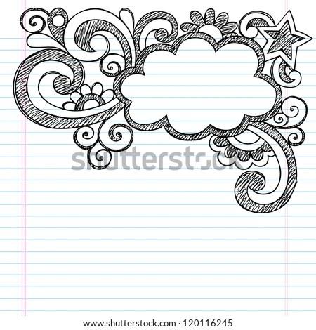 Cloud Frame Border Back School Sketchy Stock Vector (Royalty Free