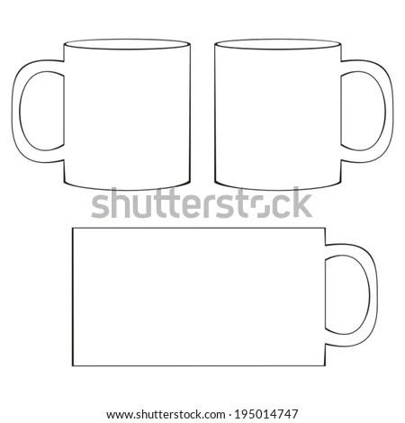 Coffee Mug Template Blank White Coffee Stock Vector (Royalty Free