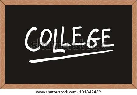 College Word Written On Chalkboard Stock Vector (Royalty Free