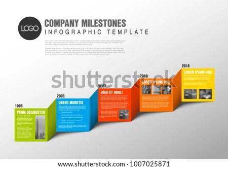 Color Blocks Timeline Template Sample Photos Stock Vector (Royalty