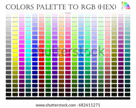 Color Palette Composition Shade Chart Conform Stock Vector (Royalty