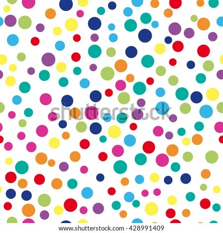 Colorful Abstract Dot Background Vector Illustration Stock Vector