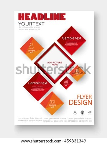Colorful Brochure Design Flyer Template Business Stock Vector
