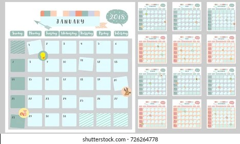 2018 calendar kids Images, Stock Photos  Vectors Shutterstock