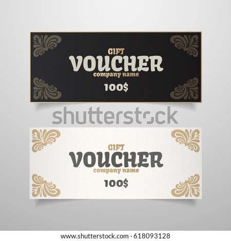 Colorful Gift Voucher Template Modern Gradient Stock Vector (Royalty