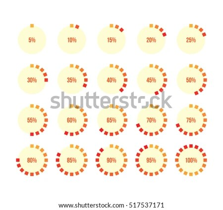 Colorful Pie Charts Ux Percent Download Stock Vector (Royalty Free