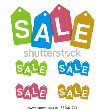 Colorful Sale Sign Vector Template Stock Vector (Royalty Free