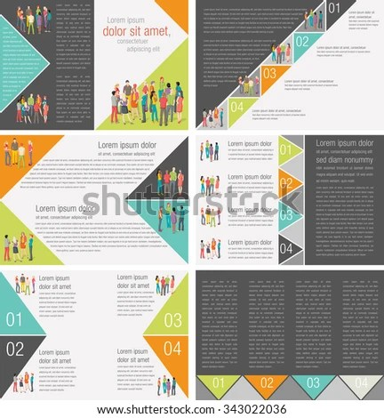 Colorful Templates Advertising Brochures Business People Stock
