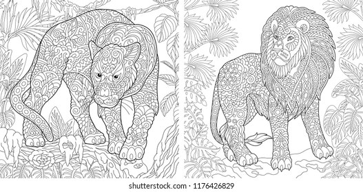 adult coloring pages Images, Stock Photos  Vectors Shutterstock