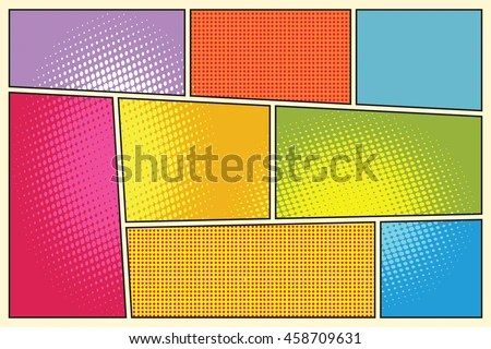 Comic Book Storyboard Style Pop Art Stock Vector (Royalty Free