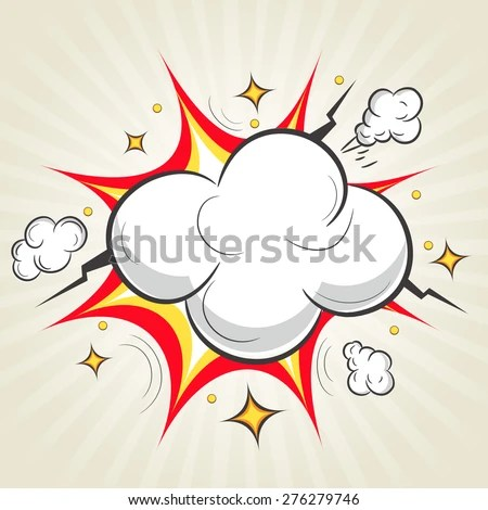Comic Speech Bubble Design Bursting Effect Stock Vector (Royalty