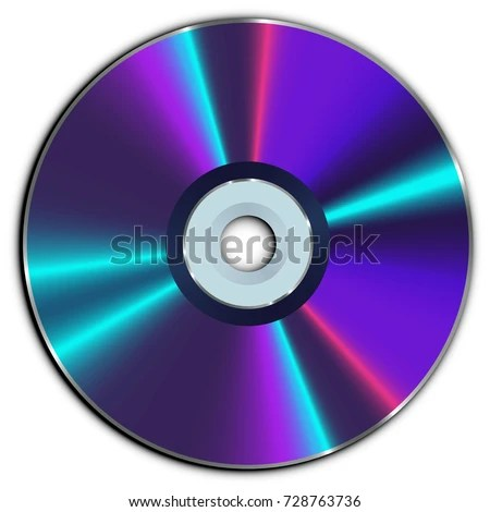 Compact CD DVD Disc Stock Vector (Royalty Free) 728763736 - Shutterstock