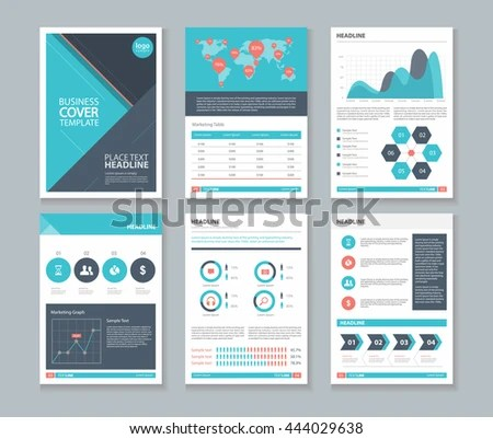Company Profile Annual Report Layout Template Stock Vector (Royalty