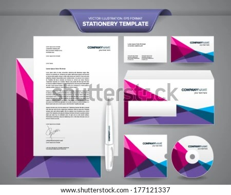 Complete Set Business Stationery Templates Such Stock Vector