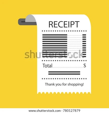 Concept Receiving Check About Payment Receipt Stock Vector (Royalty