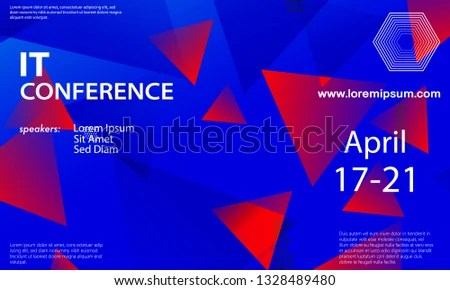 Conference Announcement Design Template Flyer Layout Stock Vector