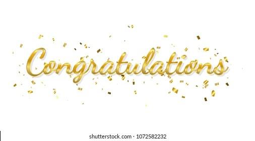 Gold Congratulations Images, Stock Photos  Vectors Shutterstock