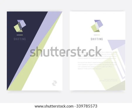 Contemporary Modern Corporate Visual Identity Branding Stock Vector