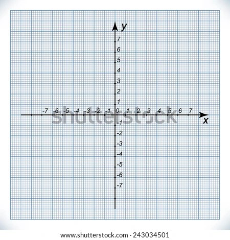 Coordinate Axis On Graph Paper Origin Stock Vector (Royalty Free