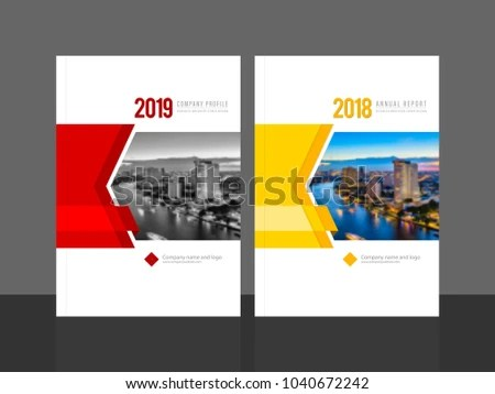 Corporate Cover Design Annual Report Company Stock Vector (Royalty