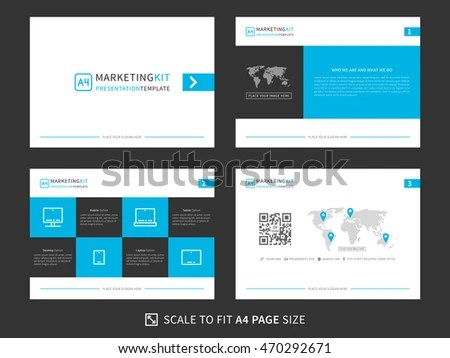 Corporate Presentation Vector Template Modern Powerpoint Stock