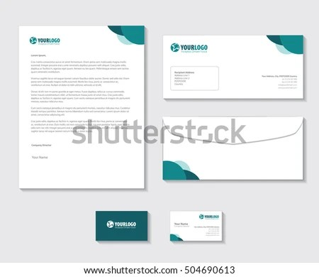 Corporate Stationery Template Modern Design Stock Vector (Royalty