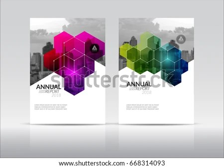 Cover Design Annual Report Flyer Presentation Stock Vector (Royalty