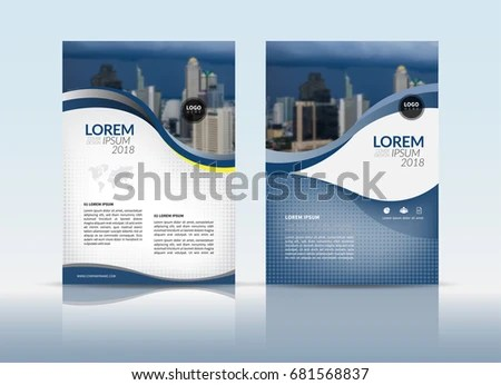 Cover Design Annual Report Cover Flyer Stock Vector (Royalty Free