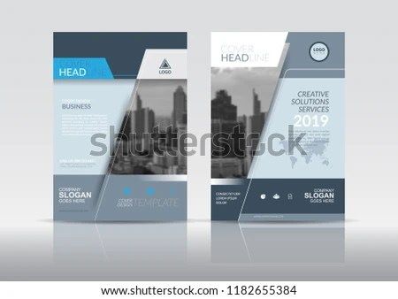 Cover Design Template Annual Report Cover Stock Vector (Royalty Free