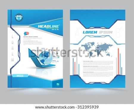 Cover Page Layout Template Technology Style Stock Vector (Royalty