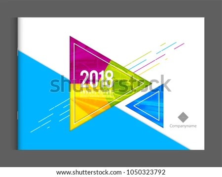 Cover Template Corporate Business Annual Report Stock Vector