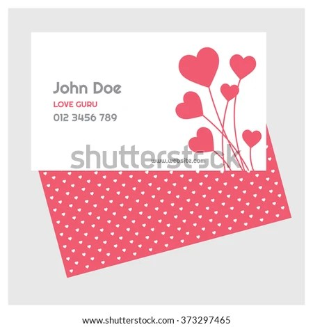 Creative Business Card Set Valentines Day Stock Vector (Royalty Free