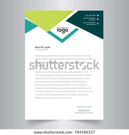 Creative Business Letterhead Design Stock Vector (Royalty Free