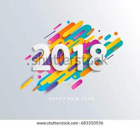 Creative Happy New Year 2018 Design Stock Vector (Royalty Free