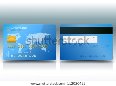 Credit Card Sample Illustration Detailed Credit Stock Vector