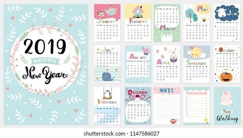 2019 calendar Images, Stock Photos  Vectors Shutterstock