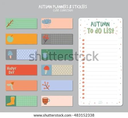 Cute Daily Calendar Do List Template Stock Vector (Royalty Free