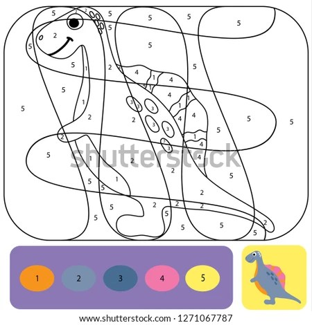 Cute Dino Coloring Page Kids Printable Stock Vector (Royalty Free