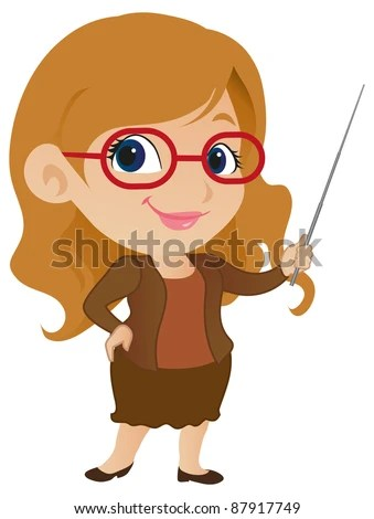 Cute Female Teacher Stock Vector (Royalty Free) 87917749 - Shutterstock
