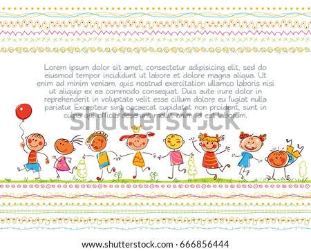 Cute Kids Children Book Cover Template Stock Vector (Royalty Free