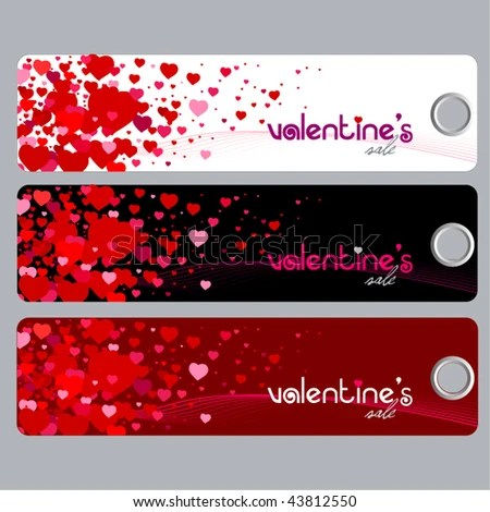 Cute Promotion Coupon Design Valentines Discount Stock Vector