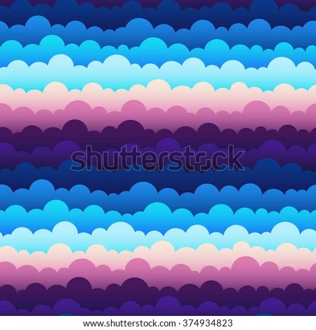 Cute Seamless Pattern Gradient Endless Abstract Stock Vector