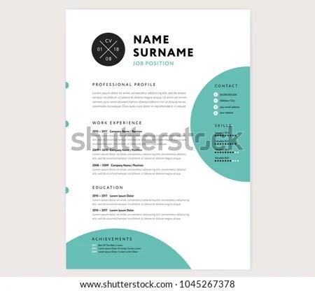 CV Resume Curriculum Vitae Template Infographic Stock Vector