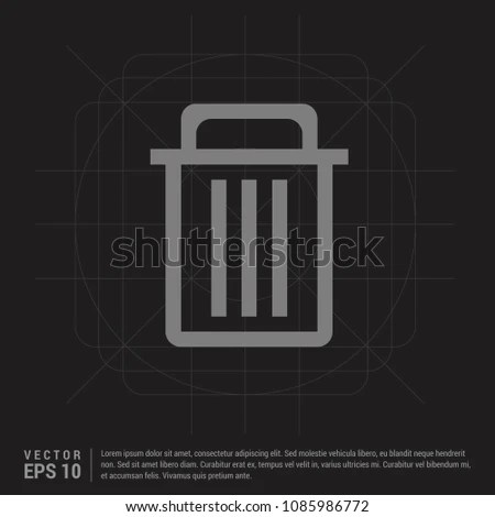 Delete Icon Black Creative Background Stock Vector (Royalty Free