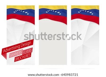 Design Banners Flyers Brochures Flag Venezuela Stock Vector (Royalty