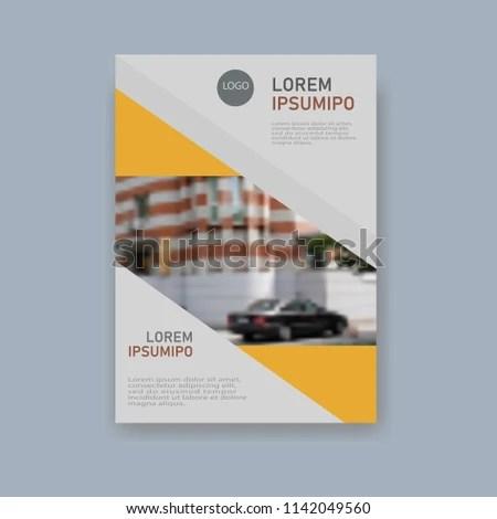 Design Brochures Business Brochures Unusual Information Stock Vector