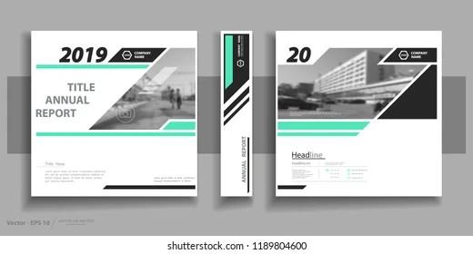Design Cover Business Brochure Frame Information Stock Vector