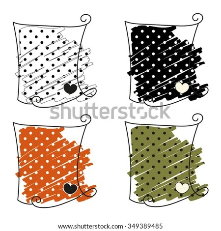 Design Elements 4 Polka Dots Patterns Black Stock Vector (Royalty