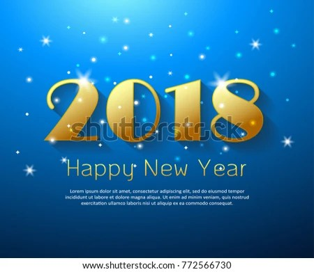 Design Happy New Year 2018 Greeting Stock Vector (Royalty Free